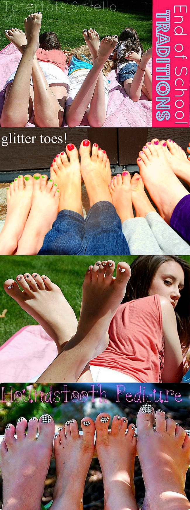 Glitter Toes Pedicures. Plus 1 month of free kids crafts you can do at home with amazon links.