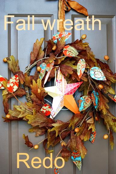 Creative Fridays: Fall wreath re-do