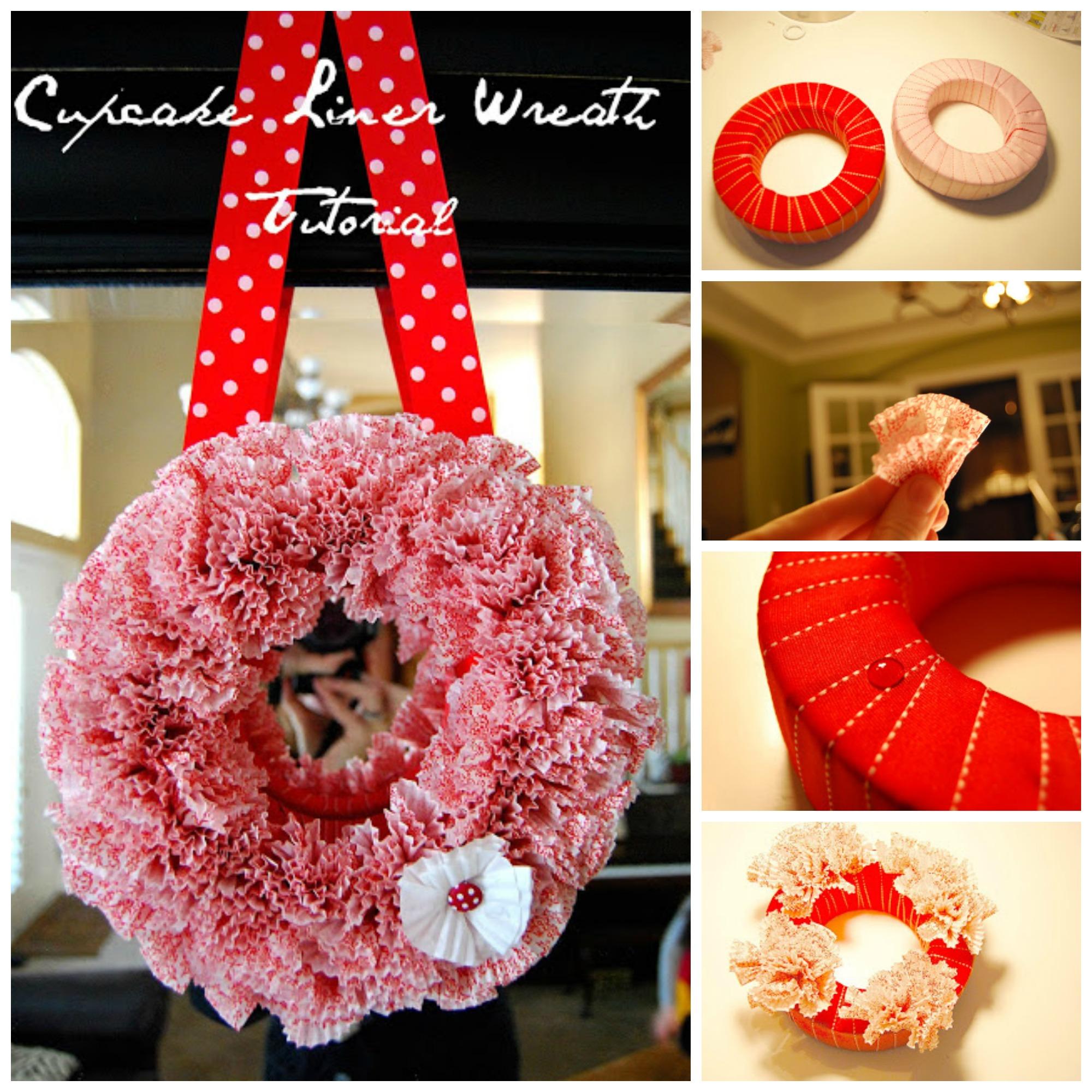 Cupcake Liner Wreath Tutorial