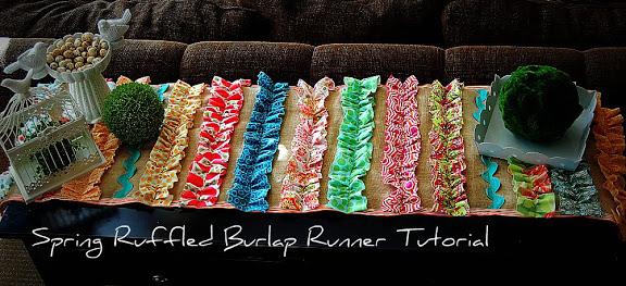 Spring Project: Ruffled BURLAP Runner