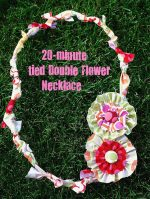 20- Minute Tied Double Flower Necklace