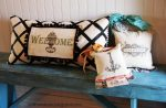 Guest Project: Handpainted & Mod Podged Canvas Pillows