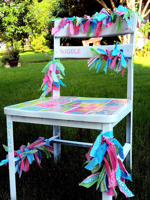 Guest Project — Mod Podged Giggle Chair