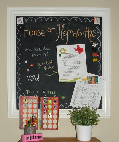 Guest Tutorial — make a DIY Magnetic Chalkboard Message Station!