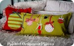 Christmas Project — make Painted Ornament Pillows