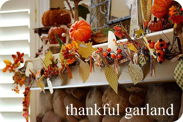 Thanksgiving Project — make a Thankful Garland