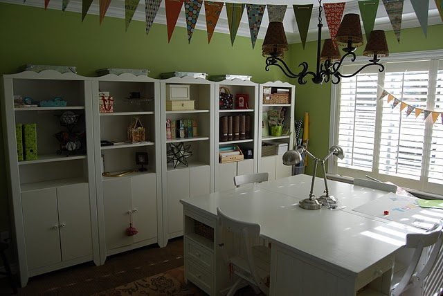 My dining room turned craft room office and show off your space - Craft room ideas for small spaces concept ...