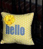 Porch Makeover Part 2 — make a 10 minute pillow cover out of cloth napkins!