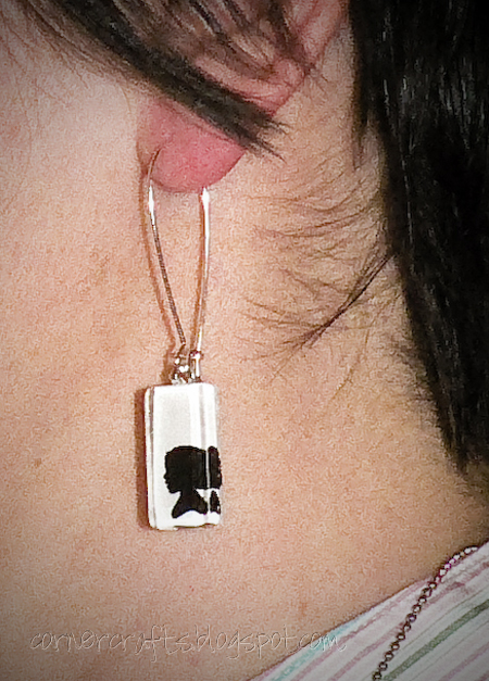 silhouette pendant charm earrings child children custom personalized etsy small front example