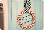 Halloween Chevron Wreath {tutorial}!!