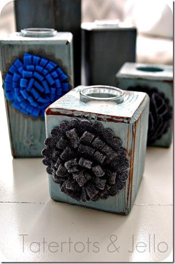 diy block candle holders