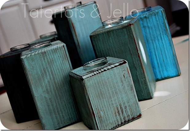 diy votive block candle holders