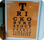 Halloween Eye Chart Pillow & Printable!! {plus file sizes to print it BIG!}