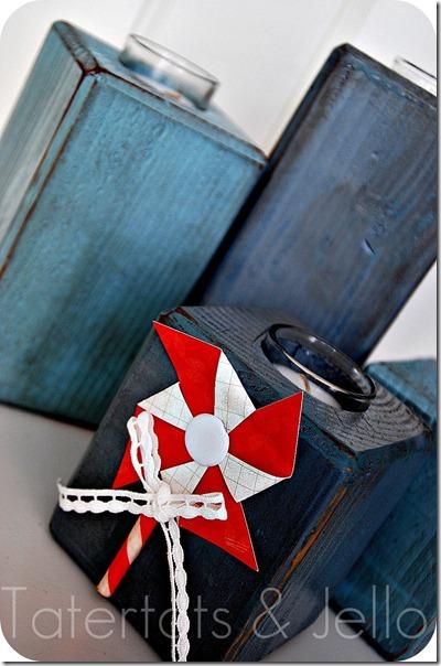 pinwheel candle holder
