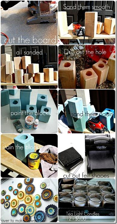tea light blocks collage