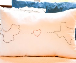 custom love cover pillow