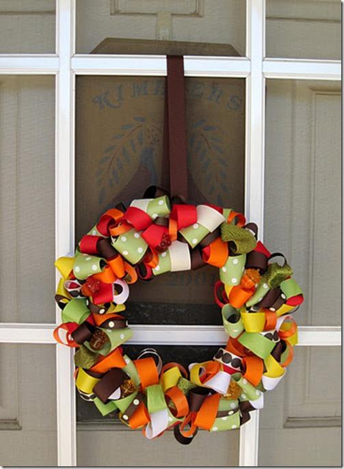 fall ribbon wreath