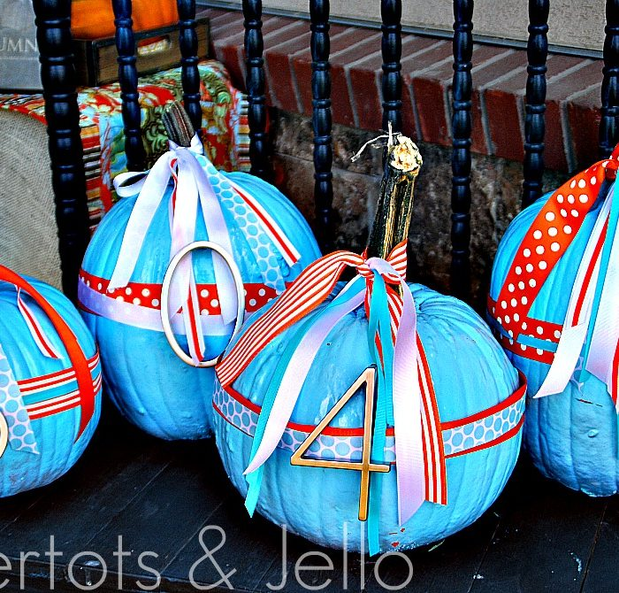 Fall Project — Make Painted Address Pumpkins {tutorial}