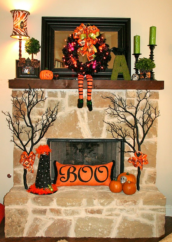 Great ideas 20 festive fall mantels tatertots and for Fall mantel decor