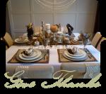 Make DIY Metallic Thanksgiving Table Decor!! {tutorial}
