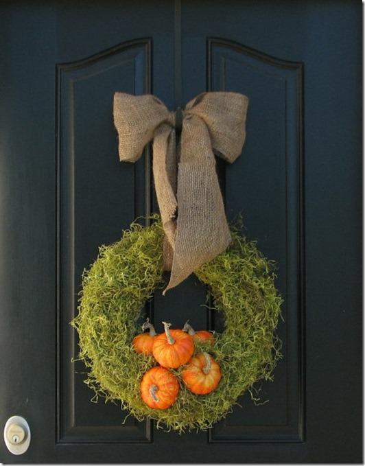 organic fall wreath
