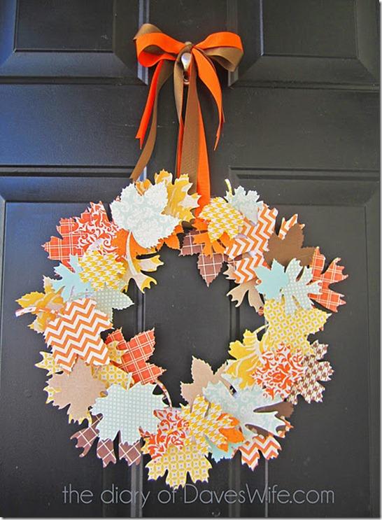 paper leaves wreath