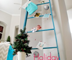 Holiday Card Holder Ladder