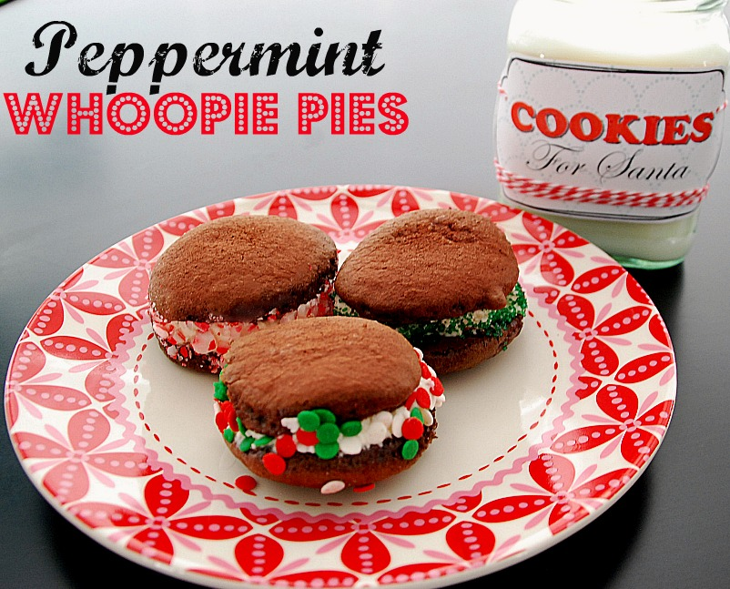 recipe: peppermint whoopie pies