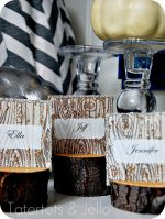 DIY Rustic Branch Holiday Place Cards and Faux Wood Printable Cards!!