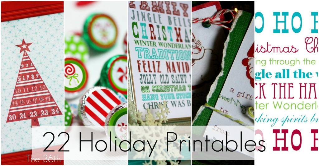 great ideas 22 free holiday printables tatertots and jello - Free Holiday Printables