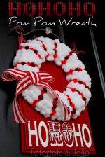 Christmas Dyed Pom Pom Wreath {Holiday tutorial}