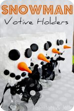 Make DIY Snowman Votives out of wine glasses!! (great teacher or neighbor gift)