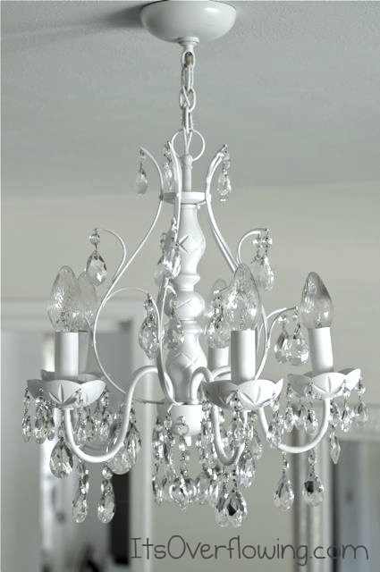 little painted chandelier how does she. Black Bedroom Furniture Sets. Home Design Ideas