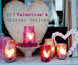 DIY Valentines Glitter Votives header