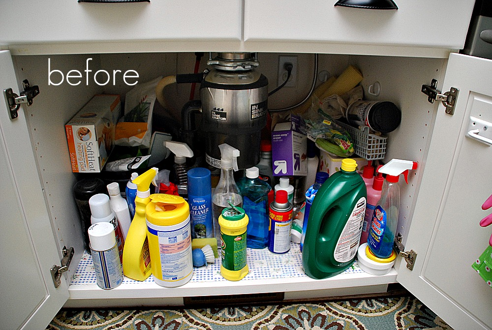 Getting organized in 2012 organizing cleaning supplies and free label printables - Cleaning products for kitchen ...