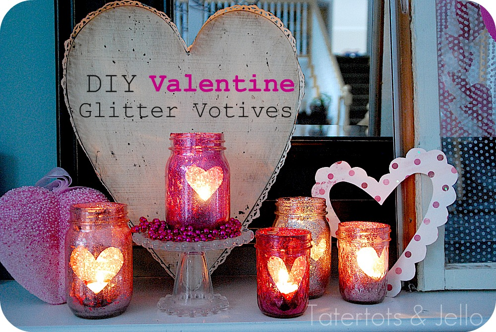 Bats diy glitter mason jar candle holders heres a sparkly little valentine idea over christmas i had seen some tutorials on making diy solutioingenieria Gallery