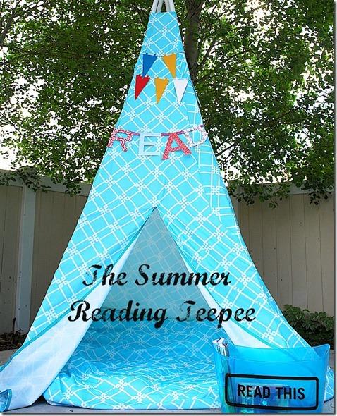 make a summer reading teepee