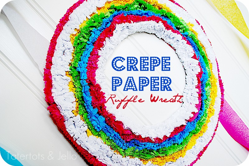 How To Make Crepe Paper Christmas Decorations : Make a crepe paper wreath and party vignette
