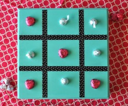 diy tic tac toe gameboard
