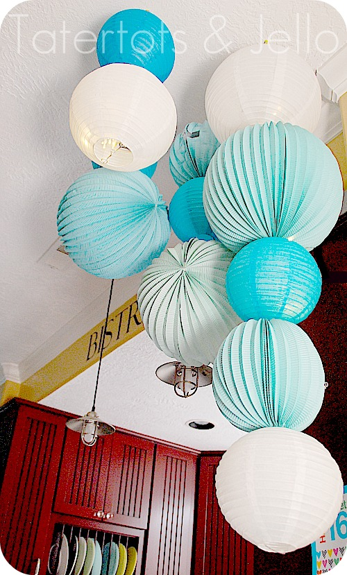 Sweet 16 party plus make a photo booth and a paper lantern chandelier - Paper lantern chandelier ...