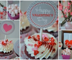 valentine party collage