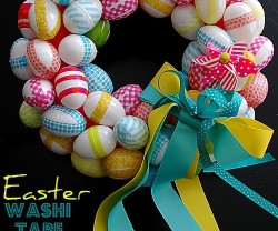 easter washi tape wreath header