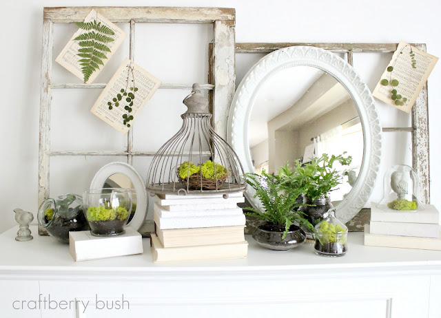 Fit Crafty Stylish And Happy Guest Bathroom Makeover: 30 Great Spring Wreath And Mantel Ideas