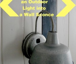outdoor sconce DIY
