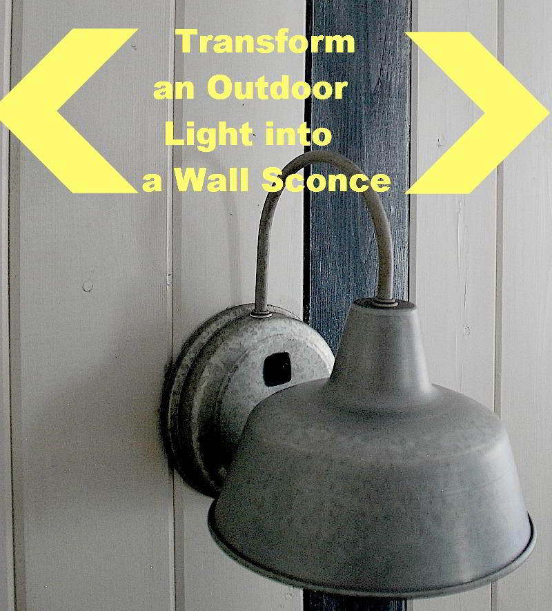 Rustic Wall Sconce With Switch : Add DIY Switches to Outdoor Sconces to make Indoor Bedside Lights!