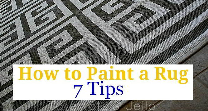 How To Paint A Rug    Seven Tips To Painting A Perfect Rug!