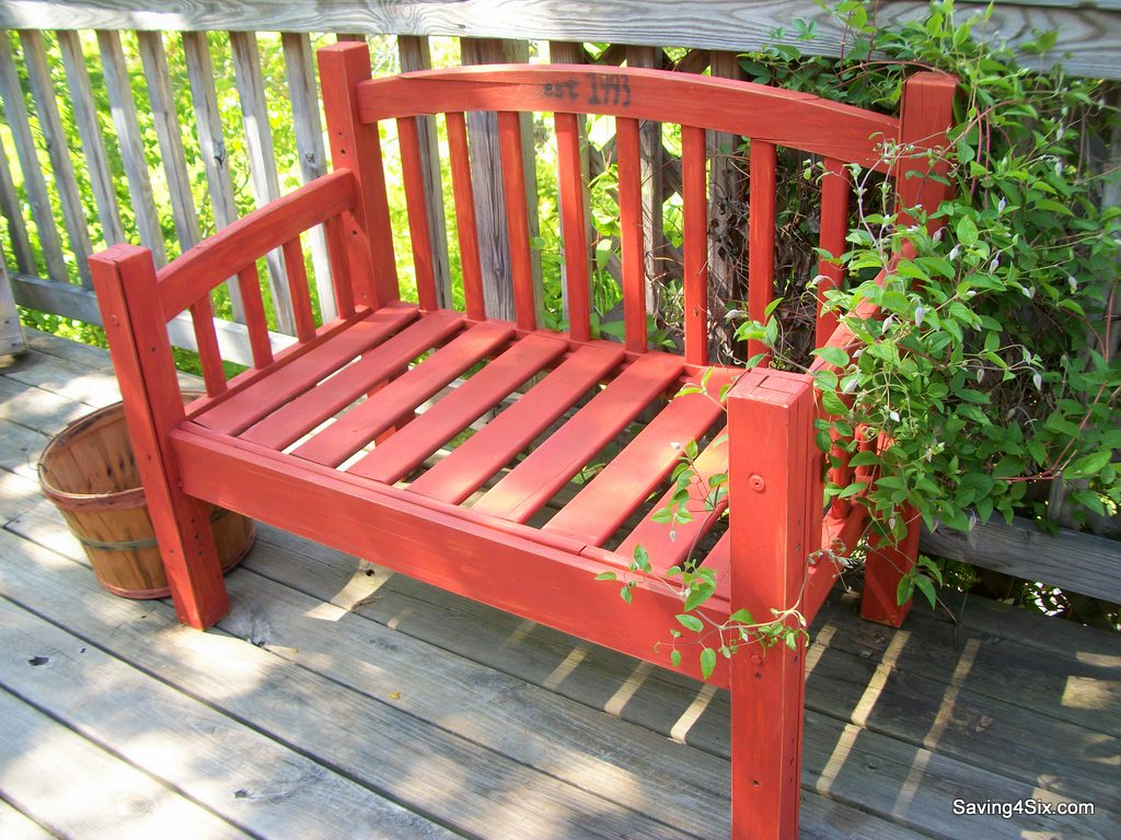 21 summer projects to make this weekend for Painted outdoor benches