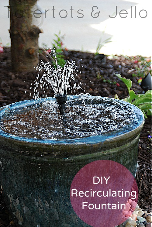 how to make a water feature out of pots