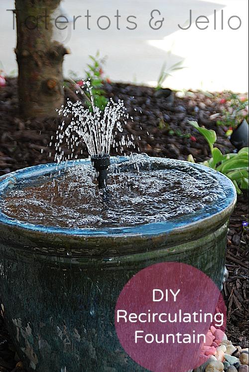 make a diy recirculating fountain