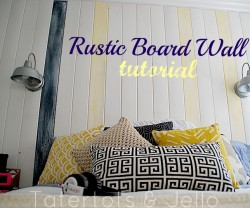 rustic board wall tutorial